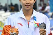 (青奥会)游泳——中国选手获得女杨浚瑄获得女子200米自由泳亚军