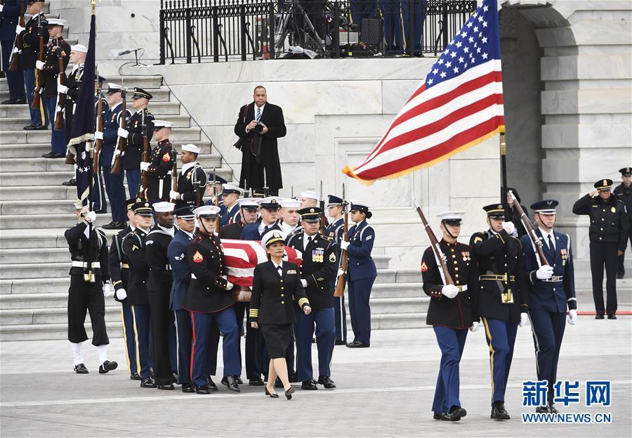 (国际)(1)美国为前总统老布什ag亚游平台网站国葬
