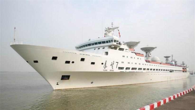 远望5号船与7号船同时出航执行测控任务