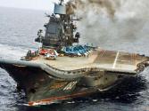 """俄羅斯""""庫茲涅佐夫""""號航母維修時起火 6人受傷"""