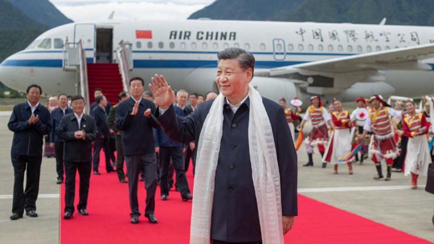 習近平在西藏林芝考察調研